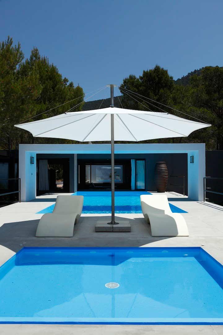 villa nicky with seaview near amazing beach cala vadella ibiza style. Black Bedroom Furniture Sets. Home Design Ideas