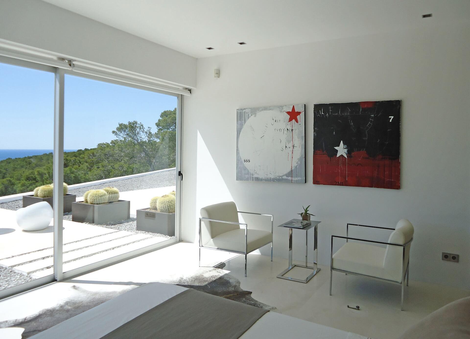 Ferien-Villa zwischen Punta Galera und Cala Salada - Ibiza Style