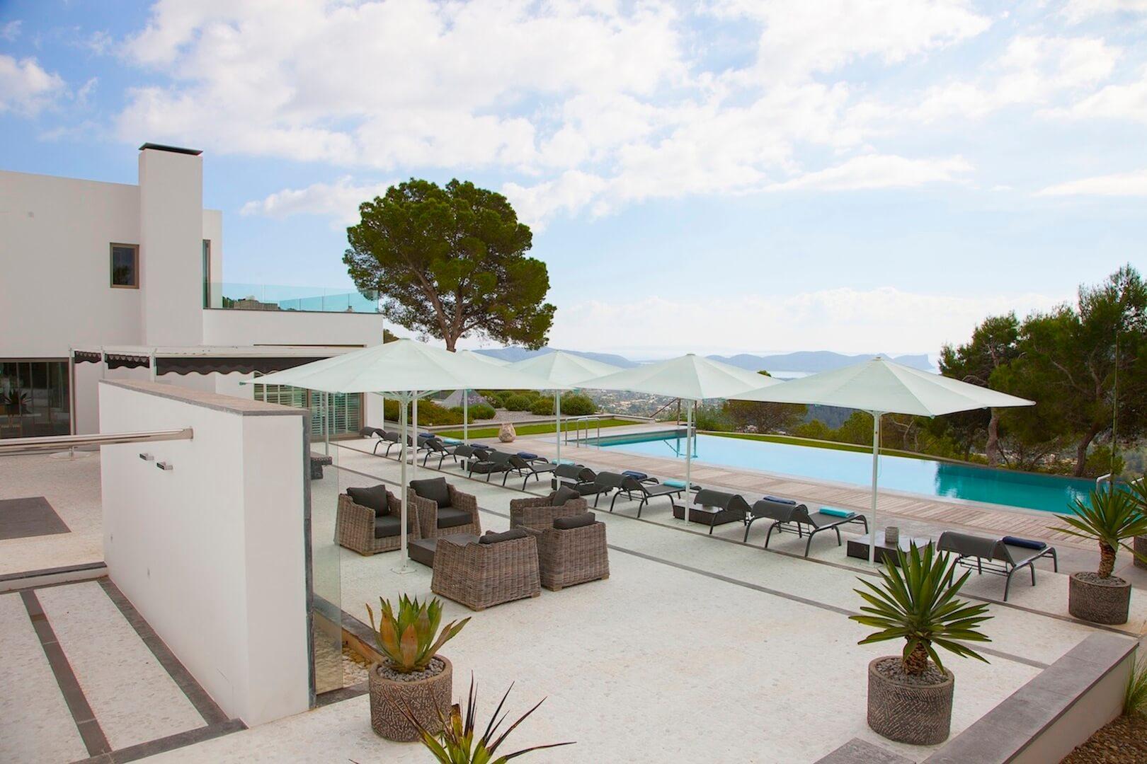 Holiday villa in ibiza with spectacular views over salinas - Ibiza house renting ...